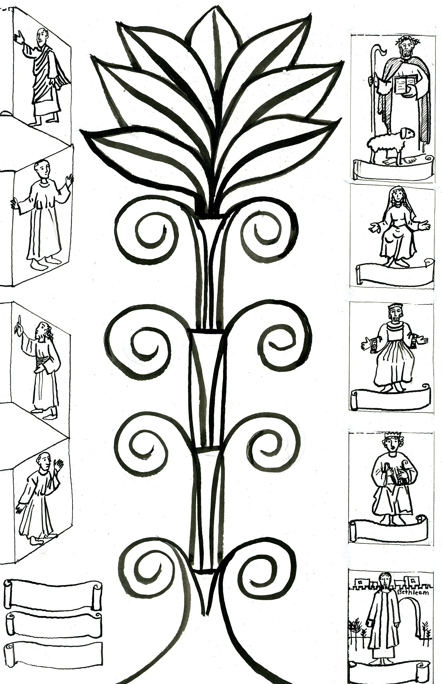 Coloriage Arbre Genealogique.Jeu De David